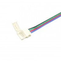 Коннектор для светодиодной ленты RGB 10мм с проводом и разъемом на одной стороне