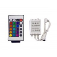 Контроллер для светодиодной ленты rgb IR с пультом 20 кнопок 12/24в 6А