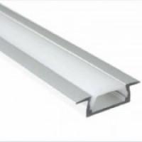 Прямоугольный встраиваемый профиль 2206 из анодированного алюминия для ленты