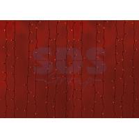 Гирлянда Светодиодный Дождь IP44 2x6м Красная