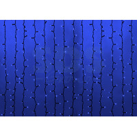 Гирлянда Светодиодный Дождь IP54 2x6м Синяя