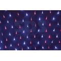 Гирлянда Сеть светодиодная IP44, 2х0,7м, Красно-синее свечение, черный провод, 220В (Для улицы и помещения)