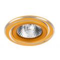 Встраиваемый точечный светильник MR16 alum decor ALUM05GD-DL50GU5.3 под лампу MR16 Золото WOLTA