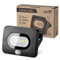 Светодиодный прожектор LFL-20W/05s, с датчиком движения, 5500K, 20W SMD, IP 65,цвет чёрный, слим Wolta