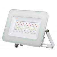 Прожектор светодиодный IP65 Jazzway PFL-30W RGB с цветным свечением 235х187х28мм белый в комплекте с пультом ДУ