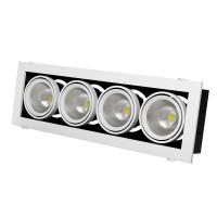 Встраиваемый карданный поворотный светодиодный светильник Grazioso 4 LED 4x30 clean Серебристый 7148Lm 4000K